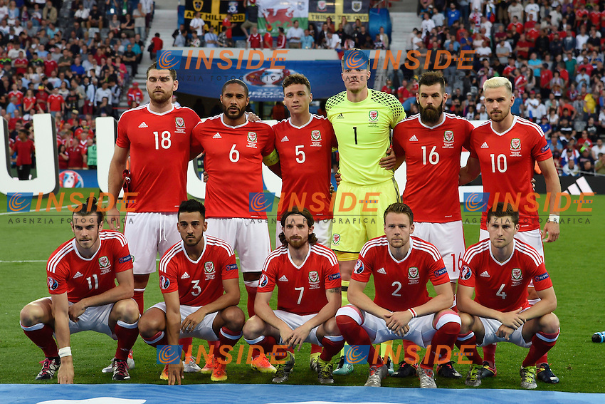 Formazione Galles Team Line Up <br /> Toulouse 20-06-2016 Stade de Toulouse Football Euro2016 Russia - Wales / Russia - Galles Group Stage Group B. Foto Thierry Breton / Panoramic / Insidefoto