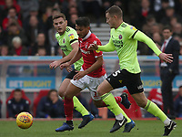 Sheffield United's John Fleck and Nottingham Forest's Joao Carvalho<br /> <br /> Photographer Rachel Holborn/CameraSport<br /> <br /> The EFL Sky Bet Championship - Nottingham Forest v Sheffield United - Saturday 3rd November 2018 - The City Ground - Nottingham<br /> <br /> World Copyright &copy; 2018 CameraSport. All rights reserved. 43 Linden Ave. Countesthorpe. Leicester. England. LE8 5PG - Tel: +44 (0) 116 277 4147 - admin@camerasport.com - www.camerasport.com
