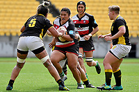 Leilani Perese of Counties Manukau in action during the Farah Palmer Cup - Wellington Pride v Counties Heat at Westpac Stadium, Wellington, New Zealand on Sunday 15 September 2019. <br /> Photo by Masanori Udagawa <br /> www.photowellington.photoshelter.com