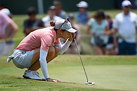 Azahara Munoz (ESP) lines up her birdie putt on 9 during round 4 of the 2019 US Women's Open, Charleston Country Club, Charleston, South Carolina,  USA. 6/2/2019.<br /> Picture: Golffile | Ken Murray<br /> <br /> All photo usage must carry mandatory copyright credit (© Golffile | Ken Murray)