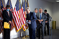 United States Senate Majority Leader Mitch McConnell (Republican of Kentucky) steps away from the microphone after speaking to members of the media following GOP policy luncheons on Capitol Hill in Washington D.C., U.S., on Tuesday, June 9, 2020.  Credit: Stefani Reynolds / CNP/AdMedia