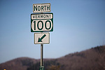 Route 100 is a north and south running highway in Vermont.  Route 100 is often voted one of the most beautiful highways in the country.
