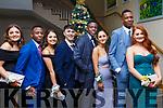 Attending the Mercy Mounthawk debs in the Ballyroe Heights Hotel on Thursday night last, l to r, Lucy O'Sullivan, JR Tshikotn, Saibh Norris, Odhran Liston, Lekam Abeyo, Ori Beqaj, Osaz Odiahi and Rebecca Dennehy.