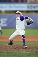 High Point Panthers relief pitcher Brady Pearre (2) in action against the Campbell Camels at Williard Stadium on March 16, 2019 in  Winston-Salem, North Carolina. The Camels defeated the Panthers 13-8. (Brian Westerholt/Four Seam Images)