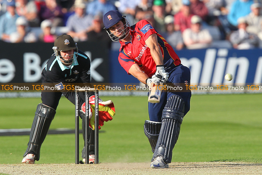 Ryan ten Doeschate hits out for Essex as Steven Davies looks on - Essex Eagles vs Surrey Lions - Yorkshire Bank YB40 Cricket at the Essex County Ground, Chelmsford - 03/06/13 - MANDATORY CREDIT: Gavin Ellis/TGSPHOTO - Self billing applies where appropriate - 0845 094 6026 - contact@tgsphoto.co.uk - NO UNPAID USE