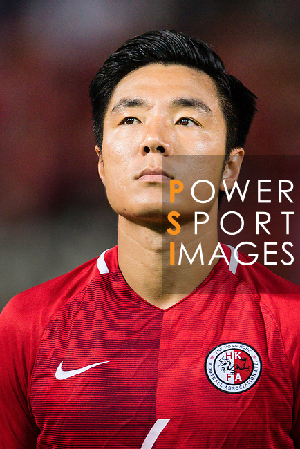 Ju Yingzhi of Hong Kong during the International Friendly match between Hong Kong and Jordan at Mongkok Stadium on June 7, 2017 in Hong Kong, China. Photo by Marcio Rodrigo Machado / Power Sport Images