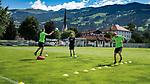 12.07.2017, Sportplatz, Zell am Ziller, AUT, TL Werder Bremen 2017 - Training Tag 06, <br /> <br /> im Bild<br /> Niklas Moisander (Werder Bremen #18) Sven Plagge (Physiotherapeut Werder Bremen)  Aron J&oacute;hannsson / Johannsson (Werder Bremen #9)<br /> Reha Training <br /> <br /> Foto &copy; nordphoto / Kokenge