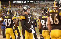 28 November 2004:  Ben Roethlisberger (7) stands on the sideline.<br />