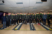 Pictured: Swansea Squad during the Swansea player and fans bowling evening at Tenpin Swansea, Swansea, Wales, UK. Wednesday 22 January 2020