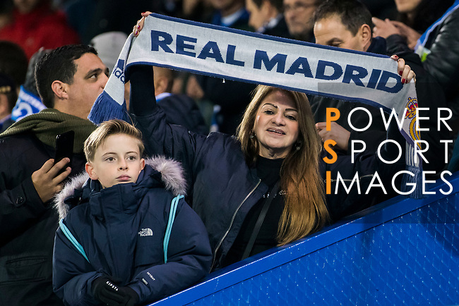 A female fan of Real Madrid shows her support prior to the Copa del Rey 2017-18 match between CD Leganes and Real Madrid at Estadio Municipal Butarque on 18 January 2018 in Leganes, Spain. Photo by Diego Gonzalez / Power Sport Images