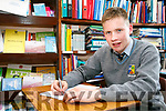 Shane McHenry, St Patrick's Secondary School. Student has won a national writing award