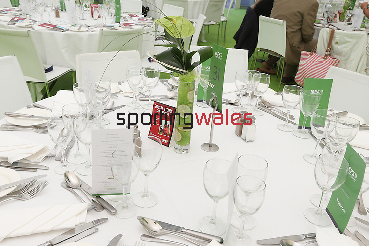 ISPS Handa Wales Open 2013<br /> Celtic Manor Resort<br /> Tented Village - Waitrose Hospitality Pavilion<br /> 01.09.13<br /> <br /> &copy;Steve Pope-Sportingwales