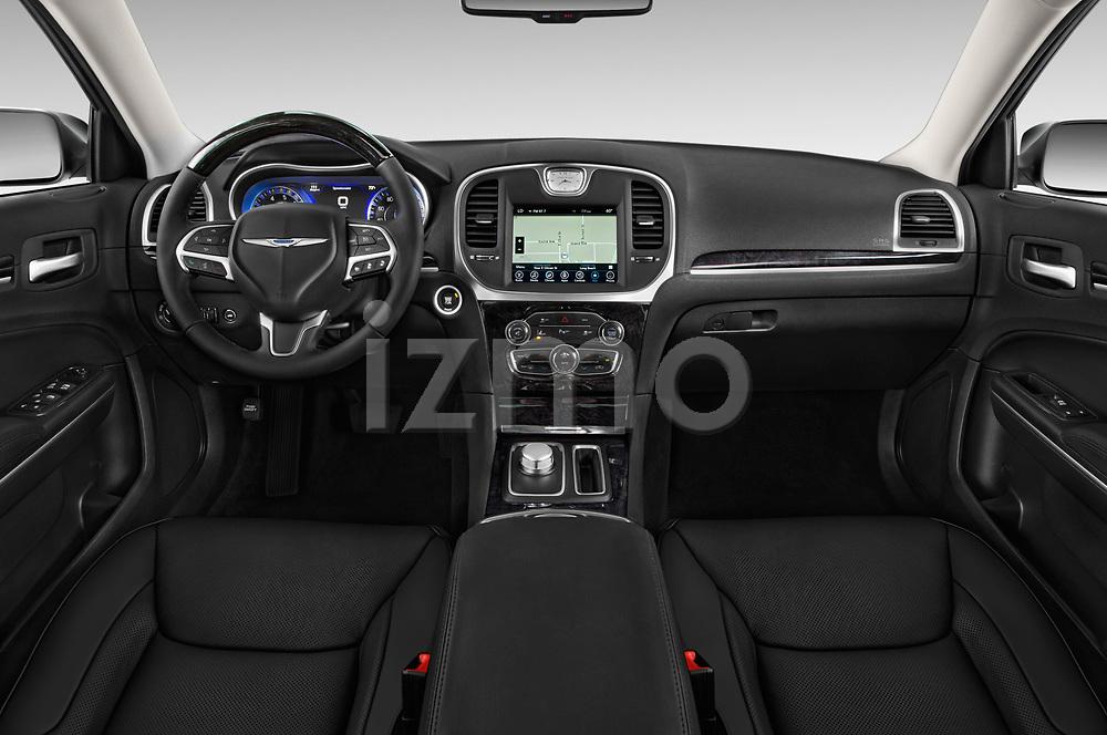 Stock photo of straight dashboard view of 2017 Chrysler 300 C 4 Door Sedan Dashboard