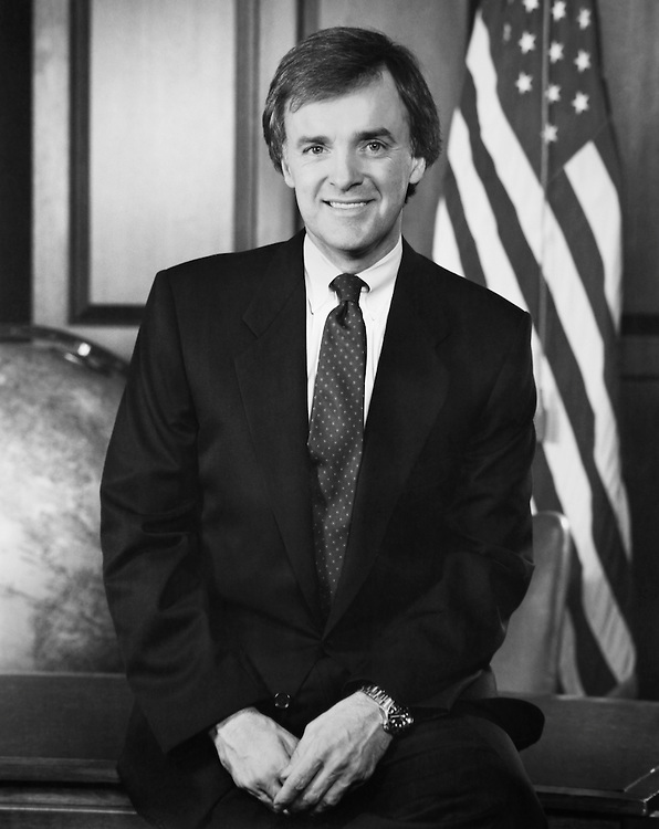 "Sen. Joseph Robert ""Bob"" Kerrey, D-Nebr., Senate Member, smiling. 1989 (Photo by CQ Roll Call)"