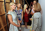 The Chronicle's Molly Glentzer,at right, talks with honorees Greggory Burk,at left, and Stephanie Cockerell backstage at the annual Houston Chronicle's Best Dressed Luncheon at the Westin Galleria Hotel Tuesday April 3, 2013.(Dave Rossman photo)