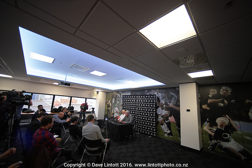 NZ Sevens All Blacks coach Sir Gordon Tietjens announces his retirement at the New Zealand Rugby Union Head Office, Wellington, New Zealand on Tuesday, 6 September 2016. Photo: Dave Lintott / lintottphoto.co.nz