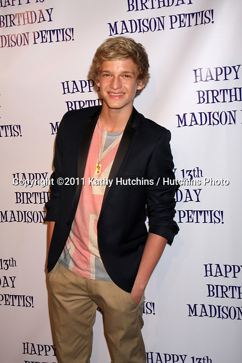 LOS ANGELES - JUL 31:  Cody Simpson arriving at the13th Birthday Party for Madison Pettis at Eden on July 31, 2011 in Los Angeles, CA