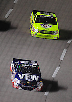 Nov. 6, 2009; Fort Worth, TX, USA; NASCAR Camping World Truck Series driver Ron Hornaday (33) leads Matt Crafton during the WinStar World Casino 350 at the Texas Motor Speedway. Mandatory Credit: Mark J. Rebilas-
