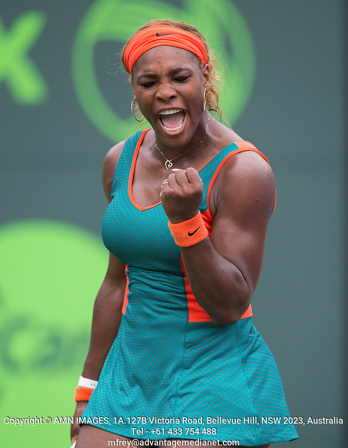SERENA WILLIAMS (USA)<br /> Tennis - Sony Open -  Crandon Park - Miami - Florida - USA - ATP-WTA - 2014  - USA  -  29 March 2014. <br /> <br /> &copy; AMN IMAGES