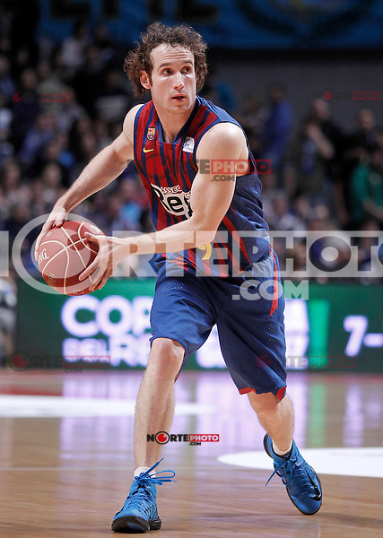 FC Barcelona Regal's Marcelinho Huertas during Liga Endesa ACB match.January 13,2012. (ALTERPHOTOS/Acero)