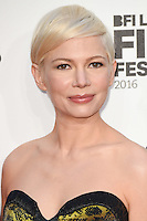 LONDON, UK. October 8, 2016: Michelle Williams at the London Film Festival premiere for &quot;Manchester by the Sea&quot; at the Odeon Leicester Square, London.<br /> Picture: Steve Vas/Featureflash/SilverHub 0208 004 5359/ 07711 972644 Editors@silverhubmedia.com