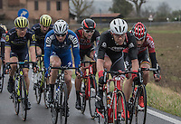 Jasper Stuyven (BEL/Trek-Segafredo) at the front (in strong/select company)<br /> <br /> 11th Strade Bianche 2017
