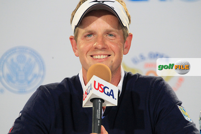 Luke Donald (ENG) gives a press conference during Tuesday's Practice Day of the 112th US Open Championship at The Olympic Club, San Francisco,  California, 12th June 2012 (Photo Eoin Clarke/www.golffile.ie)