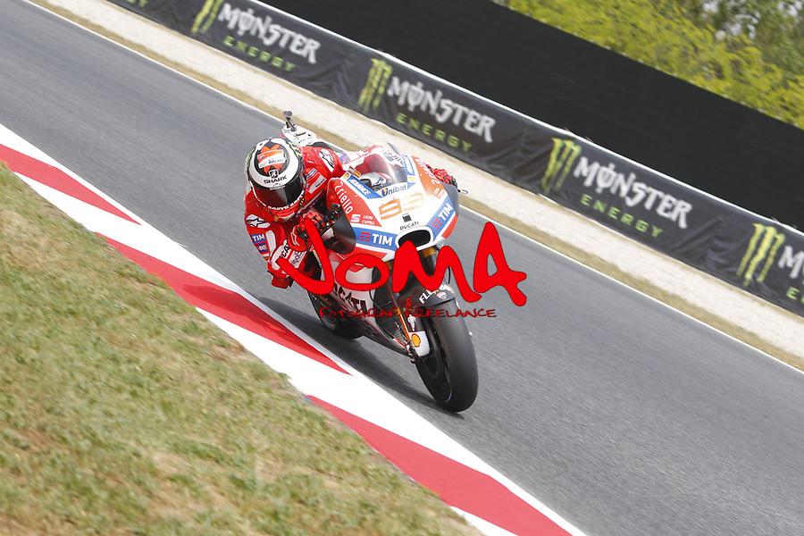 Jorge Lorenzo (SPA) Ducati team, Moto GP, Free practice, Gran Premi Monster Energy de Catalunya