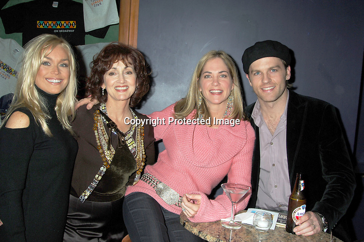 Catherine Hickland, Robin Strasser, Kassie DePaiva and Trevor St John ..at The Launch of the One Life, Many Voices CD, ..which is a 26 Track compilation CD,comprised of original ..material, covers and spoken word. It was produced and sung by actors who star on One Life To Live and will  benefit Hurricane Relief. The event was on January 11, 2006 at Caroline's Comedy Club...Photo by Robin Platzer, Twin Images