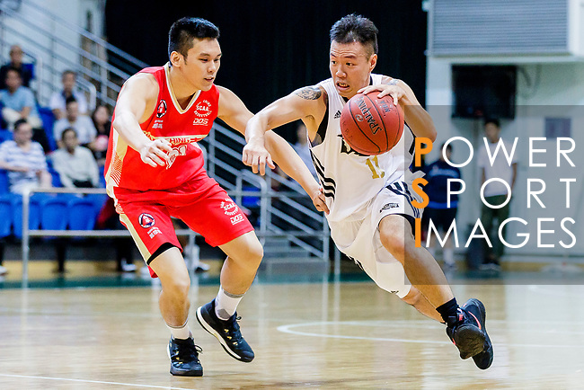 Tsang Hin Tong #11 of Eagle Basketball Team goes to the basket against the Nam Ching during the Hong Kong Basketball League game between Eagle and Nam Ching at Southorn Stadium on June 22, 2018 in Hong Kong. Photo by Yu Chun Christopher Wong / Power Sport Images