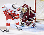 Justin Mercier, Cory Schneider - The Boston College Eagles defeated the Miami University Redhawks 5-0 in their Northeast Regional Semi-Final matchup on Friday, March 24, 2006, at the DCU Center in Worcester, MA.
