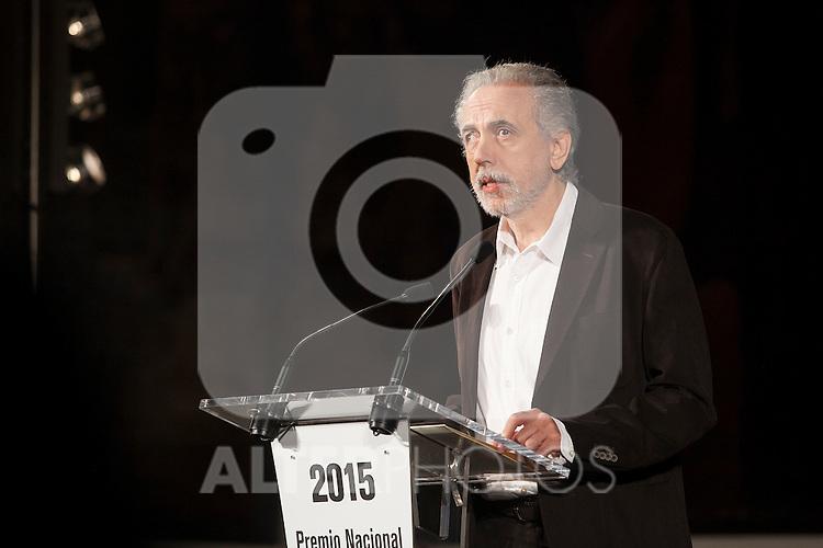 Spanish movie director Fernando Trueba receives the National Cinema Award at 63rd Donostia Zinemaldia (San Sebastian International Film Festival) in San Sebastian, Spain. September 19, 2015. (ALTERPHOTOS/Victor Blanco)