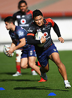 Mason Lino.<br /> Vodafone Warriors training session. Mt Smart Stadium, Auckland, New Zealand. NRL Rugby League. Wednesday 9 May 2018 &copy; Copyright photo: Andrew Cornaga / www.photosport.nz