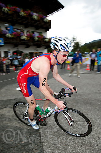 11 JUL 2009 - KITZBUHEL, AUT - Joe Umphenour - ITU World Championship Series Mens Triathlon (PHOTO (C) NIGEL FARROW)