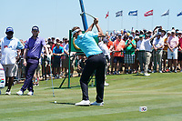 Ian Poulter (ENG) tees off the first hole during his final round of the 118th U.S. Open Championship at Shinnecock Hills Golf Club in Southampton, NY, USA. 17th June 2018.<br /> Picture: Golffile | Brian Spurlock<br /> <br /> <br /> All photo usage must carry mandatory copyright credit (&copy; Golffile | Brian Spurlock)