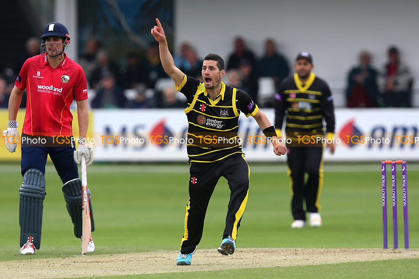 Benny Howell of Gloucestershire with an appeal for a wicket during Essex Eagles vs Gloucestershire, Royal London One-Day Cup Cricket at The Cloudfm County Ground on 4th May 2017