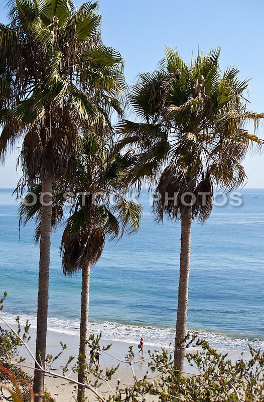 Woman Walking on the Beach in Orange County California