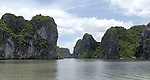 Halong-Vietnam, Ha Long - Viet Nam - 22 July 2005---Characteristic landscape dominated by limestone rocks and islets at Halong Bay, a UNESCO World Natural Heritage Site---landscape, nature---Photo: Horst Wagner/eup-images