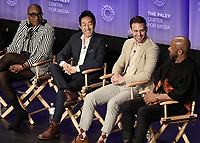 "HOLLYWOOD, CA - MARCH 17:  Aisha Hinds, Kenneth Choi, Ryan Guzman, Rockmond Dunbar at PaleyFest 2019 - Fox's ""9-1-1"" panel at the Dolby Theatre on March 17, 2019 in Hollywood, California. (Photo by Scott Kirkland/Fox/PictureGroup)"