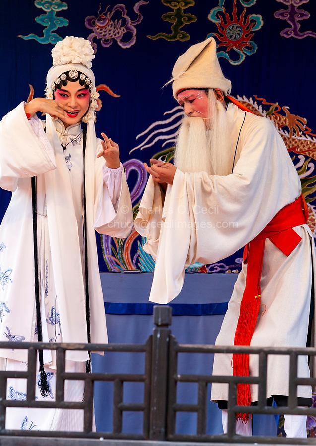 Cangpo, Zhejiang, China.  Chinese Opera Performance.