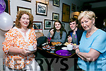 Enjoying the Meningitis research fundraiser Coffee Morning at Teach Beag Tralee on Thursday were Francine Walsh, Niamh Byrne, Ethan Byrne, Mairead Fernane