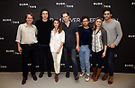 Jeremy Webb, Adam Driver, Keri Russell, David Furr, Brandon Uranowitz, Rebecca Brooksher and Jonathan Crimeni attend the 'Burn This' cast photo call at the New 42nd Street Studios on March 7, 2019 in New York City.