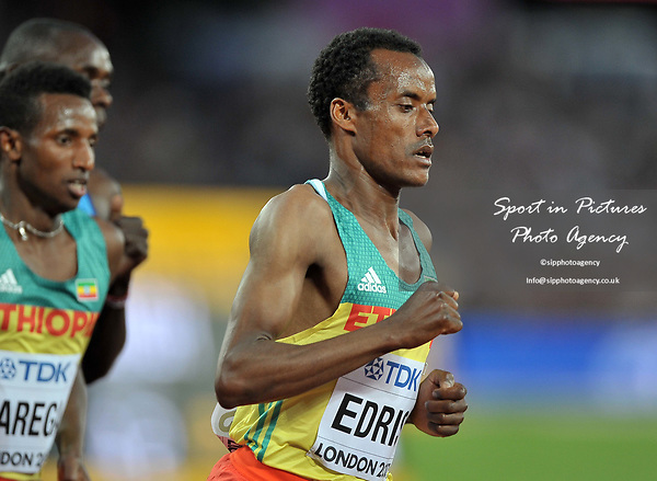 Muktar EDRIS (ETH) in the mens 5000m final. IAAF world athletics championships. London Olympic stadium. Queen Elizabeth Olympic park. Stratford. London. UK. 12/08/2017. ~ MANDATORY CREDIT Garry Bowden/SIPPA - NO UNAUTHORISED USE - +44 7837 394578