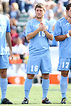 13 November 2011: North Carolina's Enzo Martinez. The University of North Carolina Tar Heels defeated the Boston College Eagles 3-1 at WakeMed Stadium in Cary, North Carolina in the Atlantic Coast Conference Men's Soccer Tournament championship game.