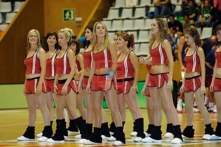 Cheerleaders Akasvayu Girona. Winterthur FC Barcelona vs Ricoh Manresa: 76-75 - Semifinals XXVII Lliga Catalana ACB 2006/2007.