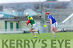 Kerry's Shane Nolan gets away from Laois's Ryan Mullaney at the Allianz Hurling League Division 1B match against  Laois at Austin Stack Park on Sunday