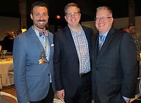 NWA Democrat-Gazette/CARIN SCHOPPMEYER Jason Suel (from left), Brad Kingsley and Daniel Hintz enjoy the Trike benefit.