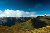 The Munros of Beinn Tulaichean from Stob Binnein, Loch Lomond and the Trossachs National Park