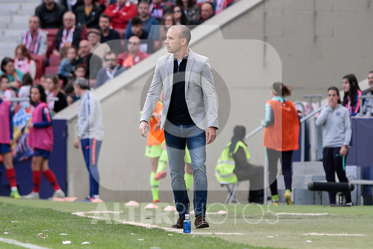Atletico de Madrid's coach Jose Luis Sanchez during Liga Iberdrola match between Atletico de Madrid and FC Barcelona at Wanda Metropolitano Stadium in Madrid, Spain. March 17, 2019. (ALTERPHOTOS/A. Perez Meca)