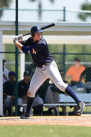 Outfielder Aaron Judge (80) of the New York Yankees organization during a minor league spring training game against the Pittsburgh Pirates on March 22, 2014 at Pirate City in Bradenton, Florida.  (Mike Janes/Four Seam Images)